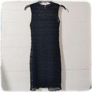 Ralph Lauren Little Black Dress Lace Over Slip